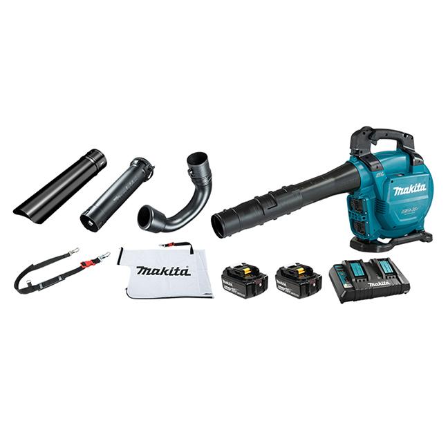Makita DUB363PG2V 18VX2 LXT 6.0Ah Blower Kit with Vacuum Attachment